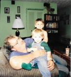 Bampa (my father), Calvin (in the back), and Dustin (in the front)